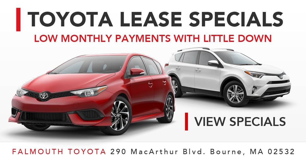 Toyota Lease Deals >> Toyota Lease Specials Cape Cod Falmouth Toyota Of Bourne Ma