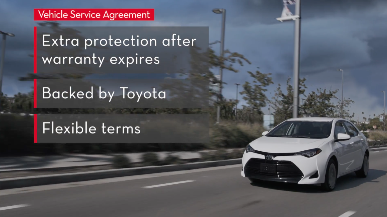 Toyota Vehicle Service Agreement Warranty At Falmouth Cape Cod Ma